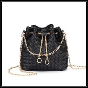 ed3569526ea2 NEW PROVENCE Weaved Drawstring Bucket Bag